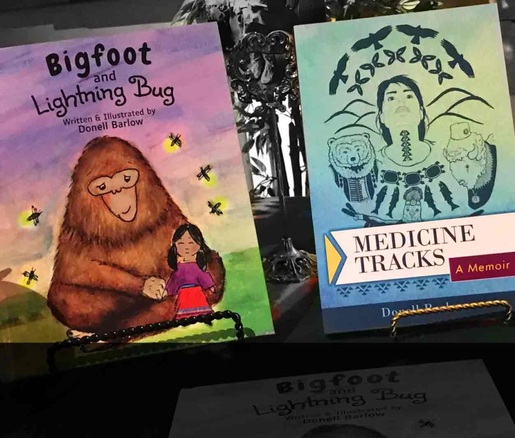 "Two books ""Bigfoot & Lightning Bug"" and ""Medicine Tracks"""